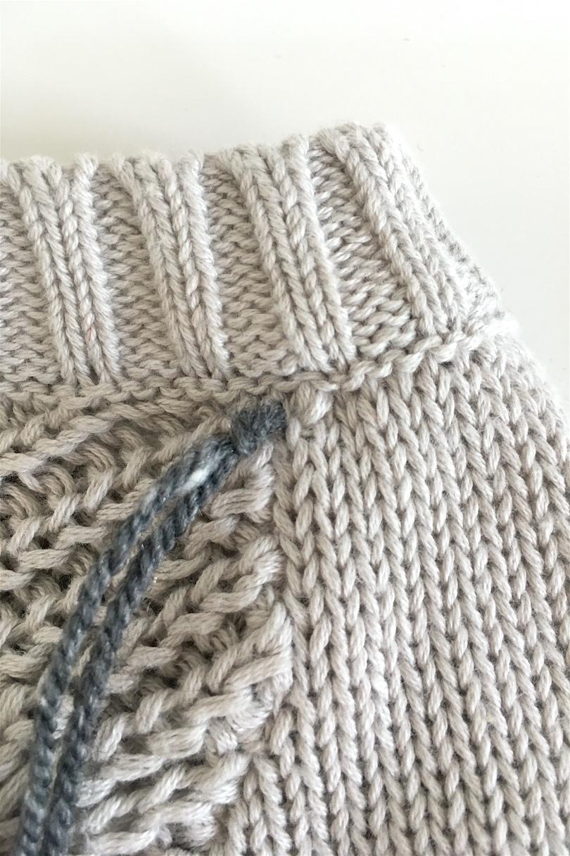 DIY Fringe Sweater. Fashion Blogger Girl from Heartfelt Hunt showing her diy for a fringe sweater.