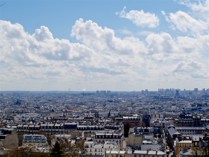 Panorama view of Paris