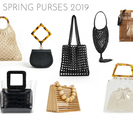 Inspiration Best Spring Purses 2019. Fashion and Style Blog Girl from Heartfelt Hunt showing her inspiration for the best spring purses 2019.