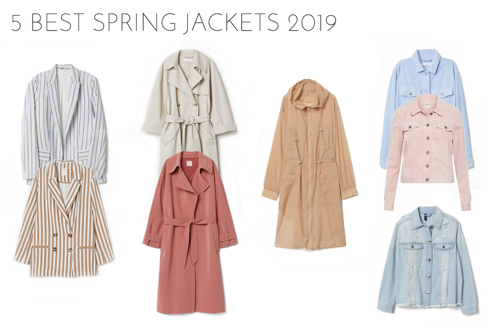 Inspiration Best Spring Jackets 2019. Fashion and Style Blog Girl from Heartfelt Hunt showing her inspiration for the 5 best spring jackets 2019.