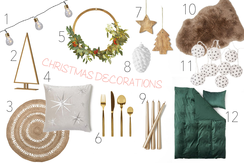 Inspiration Christmas Decorations. Fashion and Style Blog Girl from Heartfelt Hunt showing some inspiration for Christmas decorations.