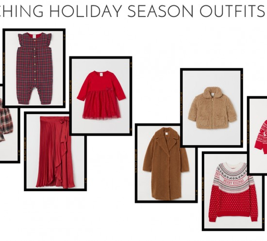 Inspiration Matching Holiday Season Outfits. Fashion and Style Blog Girl from Heartfelt Hunt showing her matching mama and daughter outfits for the holiday season.