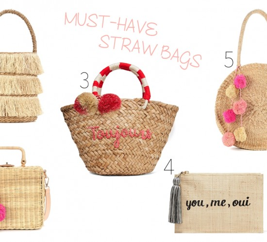 Inspiration Must-Have Straw Bags. Fashion and Style Blog Girl from Heartfelt Hunt showing some inspiration for her must-have straw bags.