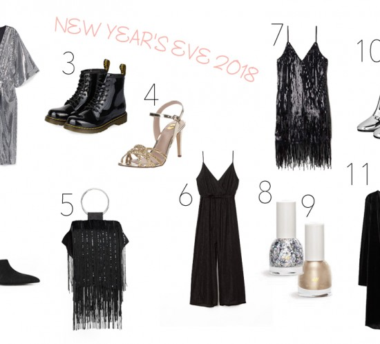 Inspiration New Year's Eve 2018. Fashion and Style Blog Girl from Heartfelt Hunt showing her inspiration for some last minute New Year's Eve outfit ideas.
