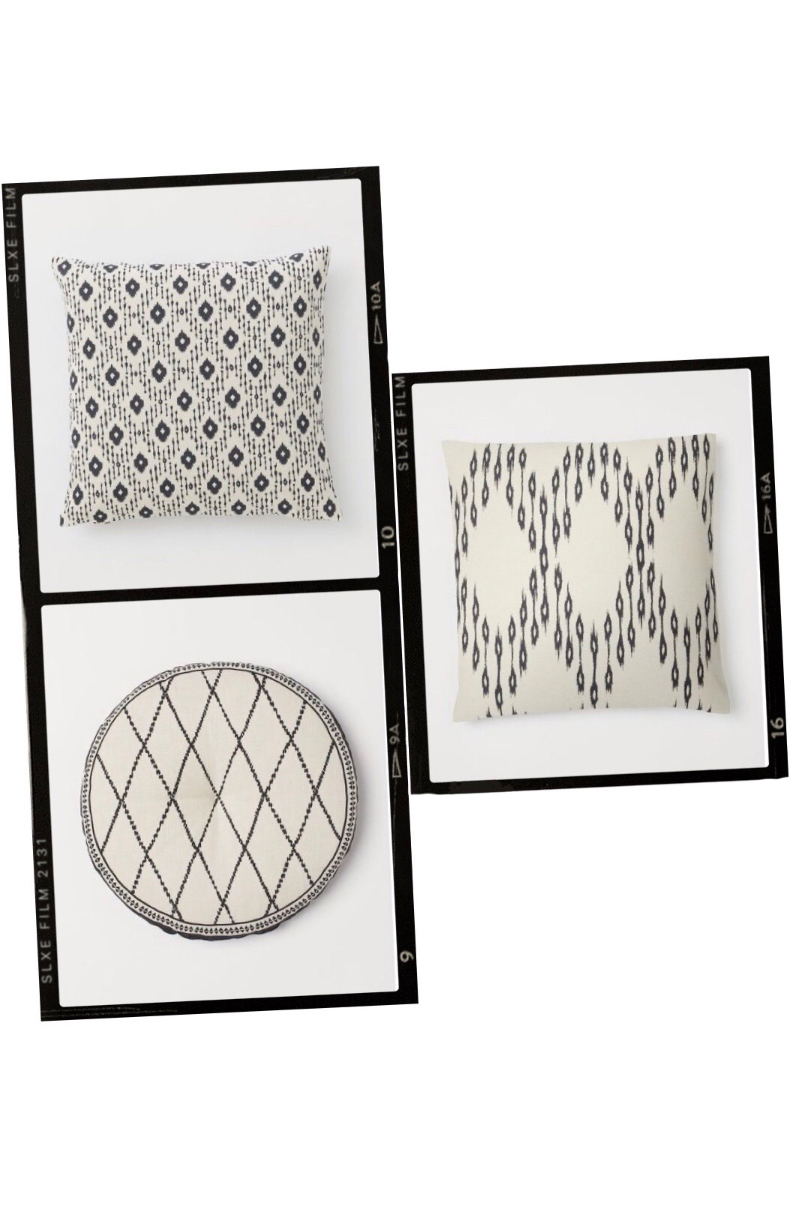 Inspiration Outdoor Decor. Fashion and Style Blog Girl from Heartfelt Hunt showing her inspiration board for outdoor decor - Macrame Decor, Rattan Chair, Pillow Case, Rattan Lampshade, Jute Carpet, Round Chair Cushion, Bath Towel, Eye Mirror, Pillow Case, Wire Basket, Basket with Pompoms.