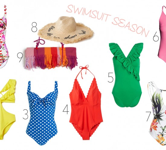 Inspiration Swimsuit Season. Fashion and Style Blog Girl from Heartfelt Hunt showing some inspiration for the swimsuit season.