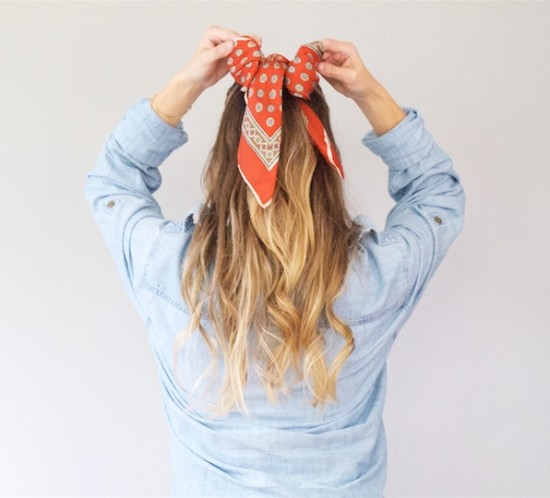 Scarf Hairstyles. Fashion Blogger Girl by Style Blog Heartfelt Hunt.