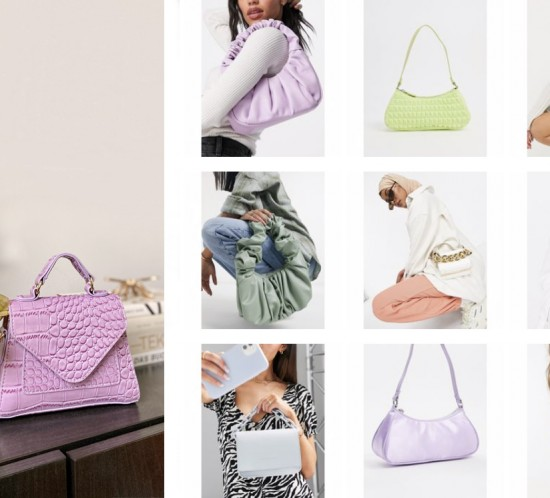 Spring Bags. Fashion Blogger Girl by Style Blog Heartfelt Hunt. Girl with blond hair showing her favorite spring bags of this season.